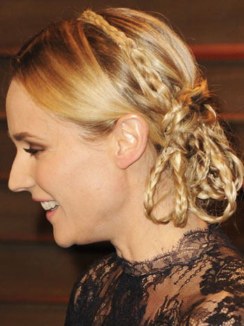 Diane Kruger's Unique Multiple Braided Updo