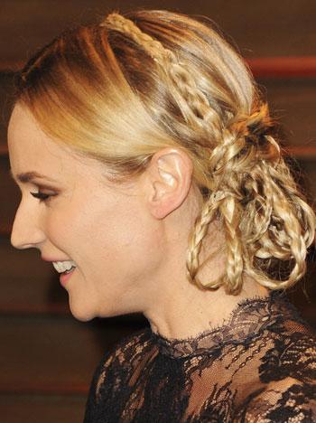 Diane Kruger's Unique Multiple Braided Updo