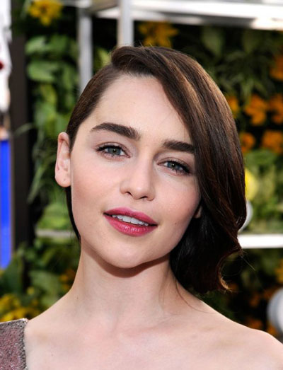 Emilia Clarke's Elegant Side Bun Hairstyle at the 2014 SAG Awards