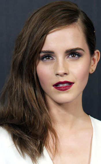 Emma Watson's Chic Long Side-Swept Hairstyle