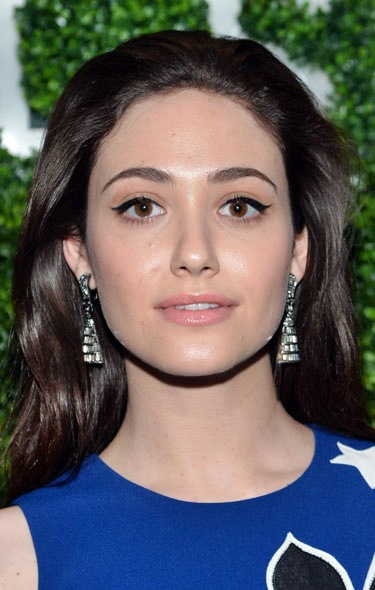 Emmy Rossum's Vintage Bouffant Long Hairstyle