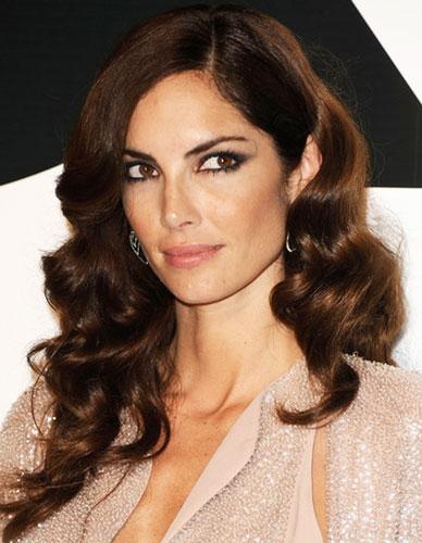 Eugenia Silva's Long Curly Hair