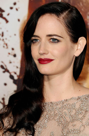 Eva Green's Sexy Side-Swept Curly Long Hairstyle