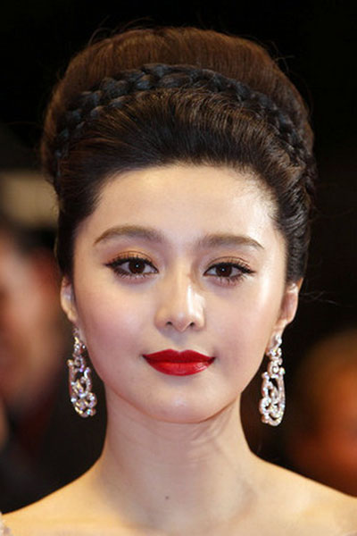 Fan Bingbing's Elegant Retro Bouffant Braided Updo