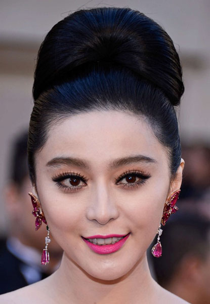 Fan Bingbing's Quirky Slinky Updo