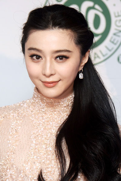 Fan Bingbing's Lovely Low Side Ponytail Hairstyle
