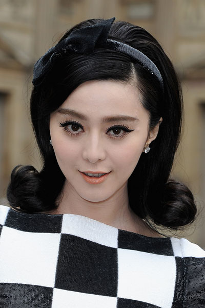 Fan Bingbing's Elegant Bouffant Retro Hairstyle with Headband