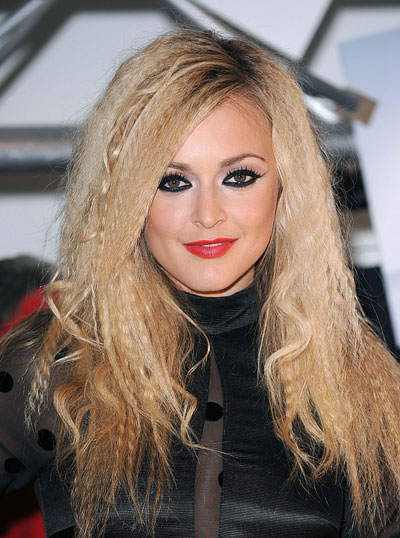 Fearne Cotton's Eccentric Crimped and Curly Long Hairstyle
