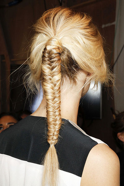Stylish Fishtail Braided Ponytail