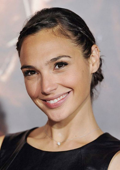 Gal Gadot's Pretty Braided Updo