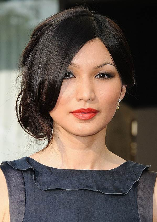 Gemma Chan's Sexy Loose Chignon With Face Framing Side Bangs