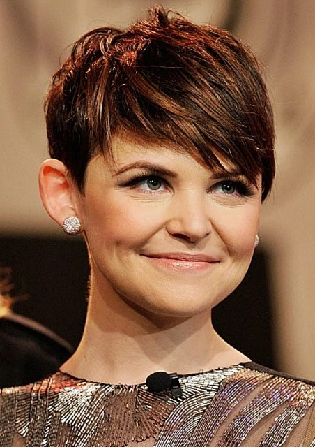 Ginnifer Goodwin's Pixie Hairstyle For Women With Round Face Shapes