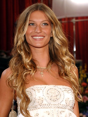 Gisele Bundchen Balayage Beach Waves