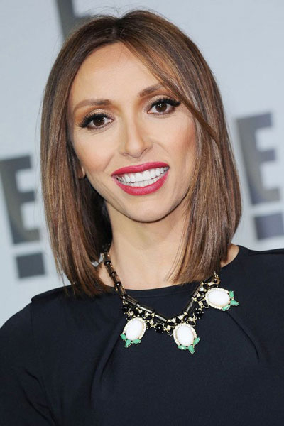 Giuliana Rancic's Stylish and Sleek Middle Part Bob