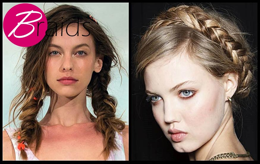 Sleek Braids Hairstyle for Spring 2014
