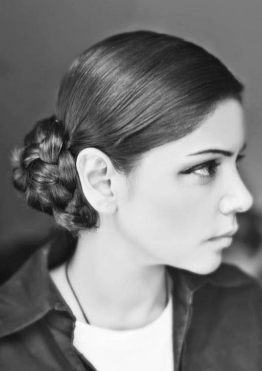 Hadiqa Kiani's Intricate Braided Bun Hairstyle