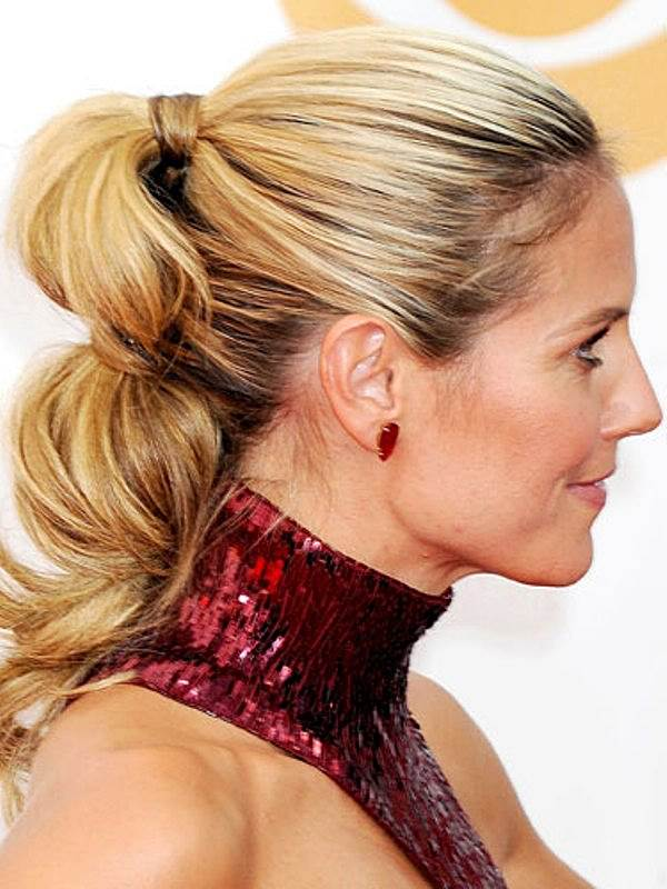 Heidi klum hairstyles careforhair heidi klums intricate ponytail at the 2013 primetime emmy awards urmus Images
