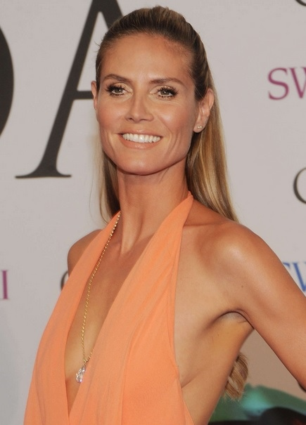 Heidi Klum's Half Up At CFDA Fashion Awards 2014