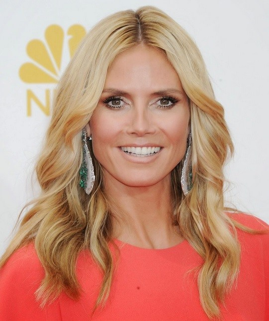 Heidi Klum's Wavy Style At Emmy Awards 2014