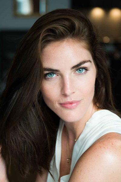 Hilary Rhoda's Sexy Long Hairstyle with Deep Side Part