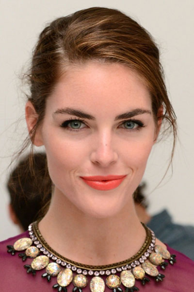 Hilary Rhoda's Chic Disheveled Bun Hairstyle