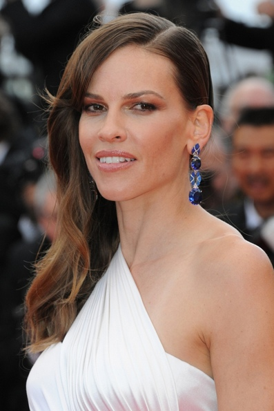Hilary Swank's Side Swoop At Cannes Film Festival 2014