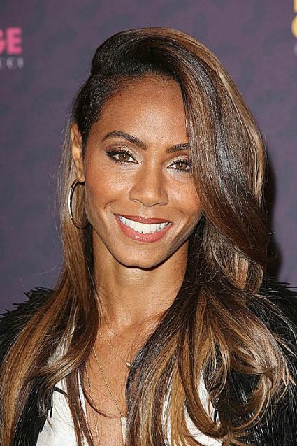 Jada Pinkett Smith Gorgeous Wavy Hairstyle With Amazing Color