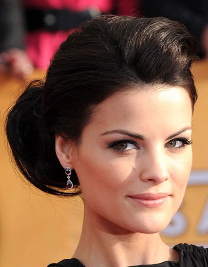 Jaimie Alexander's Beautiful Side Chignon Hairstyle