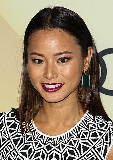 Jamie Chung's Long And Simple Middle Part Hairstyle