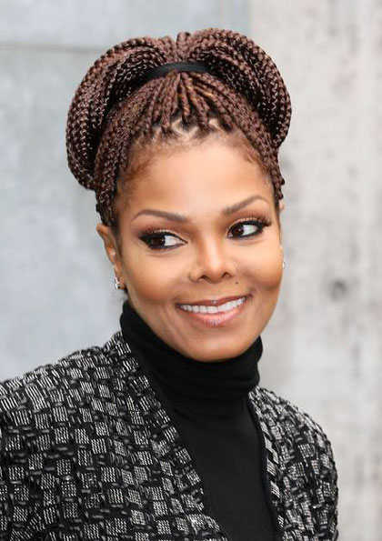 Janet Jackson's Cool Box Braids High Ponytail