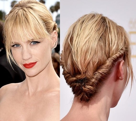 January Jones' Updo At Emmy Awards 2014