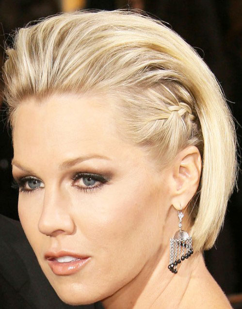 Jennie Garth Braid Short Bob Prom Hairstyles 2014