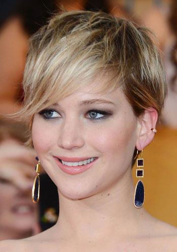 Jennifer Lawrence's Fierce Messy Pixie at the 2014 SAG Awards