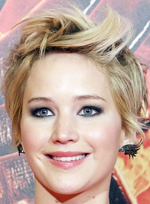 Jennifer Lawrence Pixie Prom Hairstyles 2014