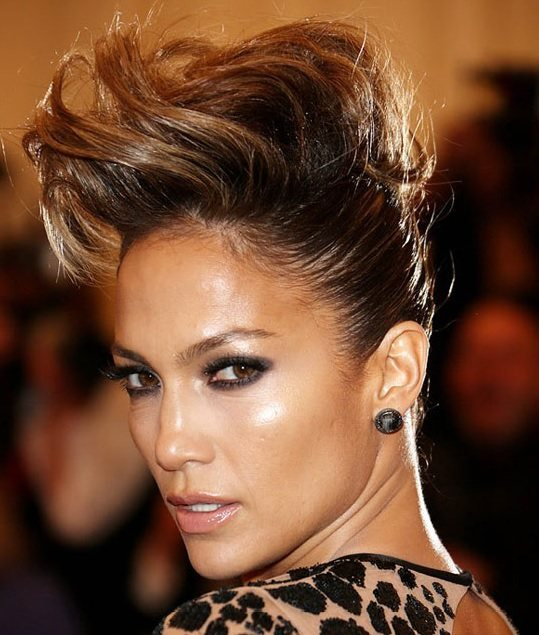 Jennifer Lopez's Faux Mohawk At Met Ball 2013