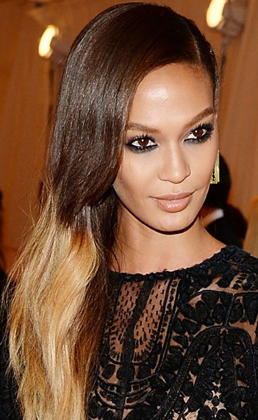 Joan Smalls' Cool Long Ombre Hairstyle