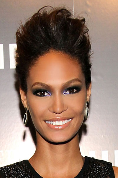 Joan Smalls' Edgy Pseudo Hi-Top Fade Updo