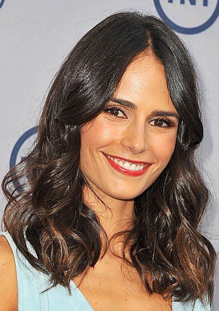Jordana Brewster's Lustrous Curly Shoulder Length Hairstyle