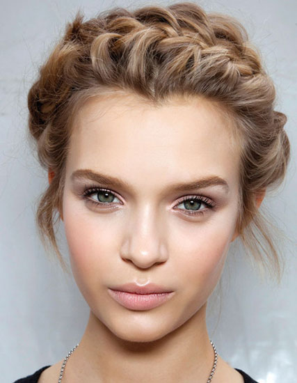 Josephine Skriver's Crown French Braid Updo - Prom
