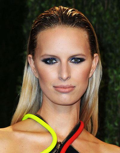 Karolina Kurkova's Bold Wet Look Hairstyle