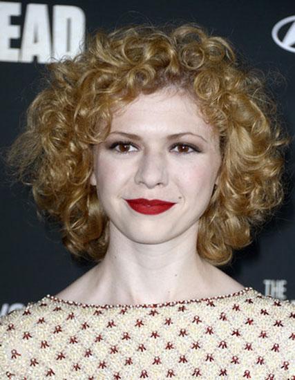 Kasha Korpinski's Cute Curly Bob Hairstyle