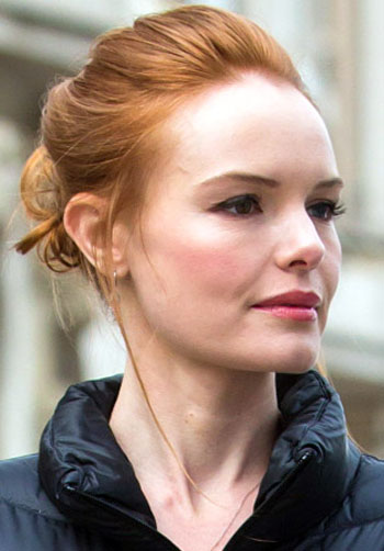 Kate Bosworth's Casual Loose Bun Hairstyle