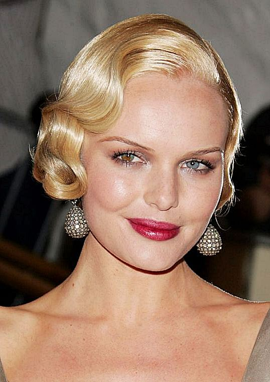 Kate Bosworth Flirty Finger Wave Short Hairstyle