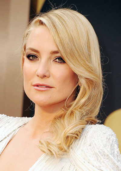 Kate Hudson's Sexy Side-Swept Hairstyle at the 2014 Oscars