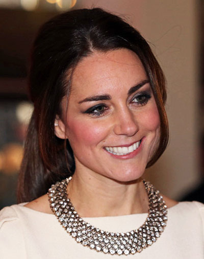 kate middleton�s ponytail hairstyle casual party fall