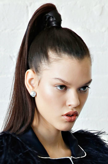 High Ponytail at Kate Spade Fall/Winter 2014 Fashion Show