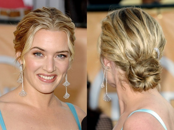 Kate Winslet's Messy Beach Waves Chignon