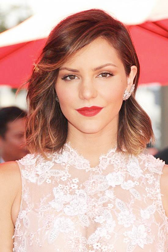 Katharine McPhee's Elegant Wavy Long Bob at the 2013 Primetime Emmy Awards