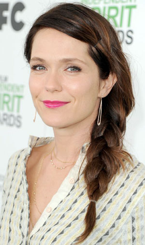Katie Aselton's Casual Side French Braid Hairstyle