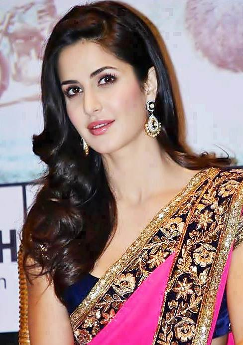 Katrina Kaif's Romantic Long Layered Curly Hairstyle with Side Part